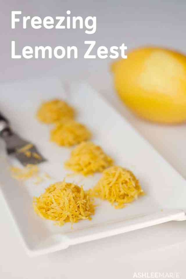 How to Freeze Lemon Rind - Ashlee Marie - real fun with real food