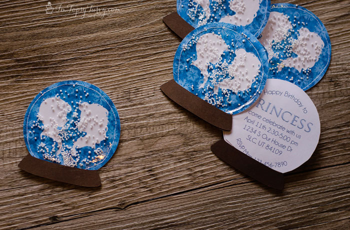 snow globe frozen invitations ashlee marie real fun with real food