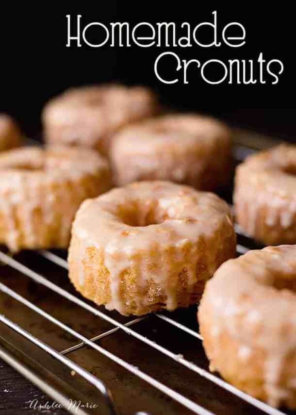make your own layered dough and homemade cronuts with this recipe and video tutorial