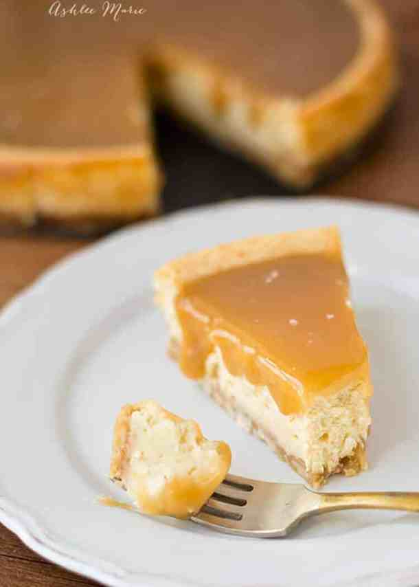 salted caramel cheesecake tastes amazing and everyone loves it