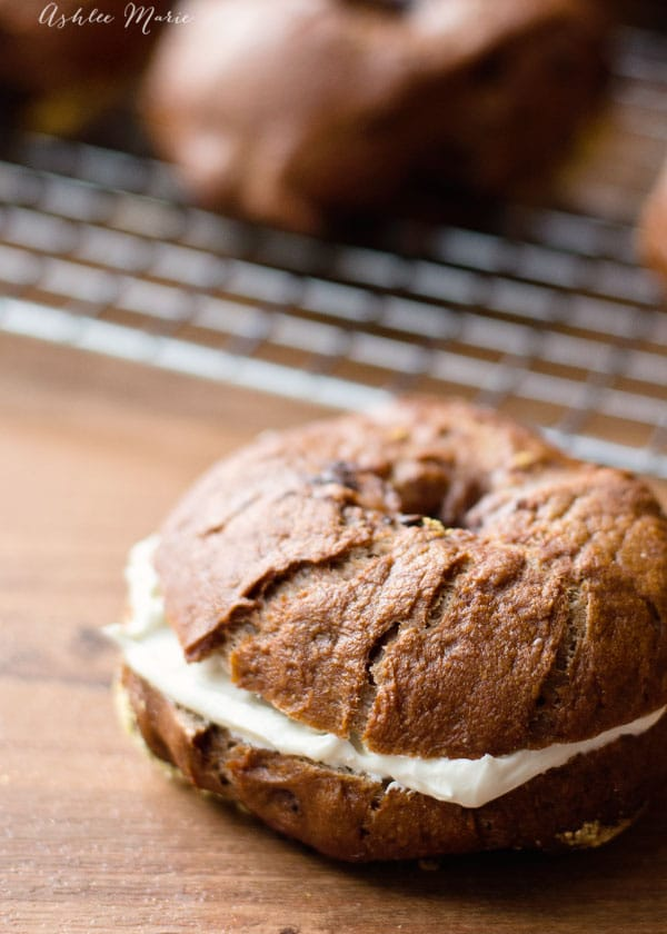 Add some cream cheese to your chocolate chip bagel for a great lunch