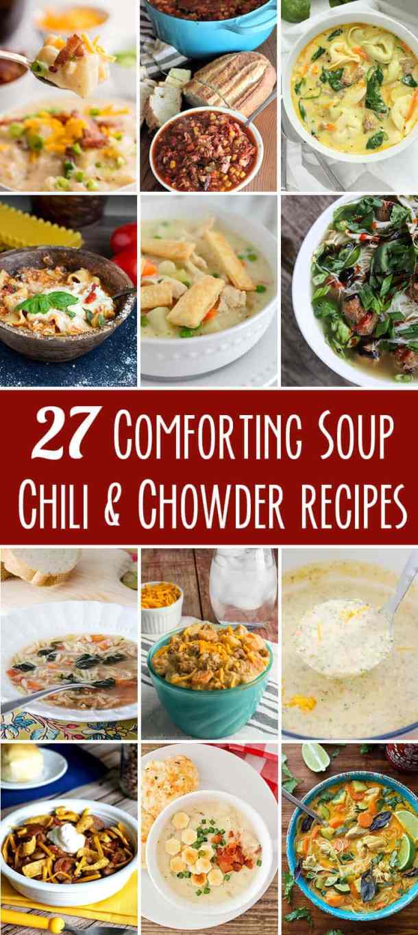 twenty seven soup chili chowder recipes collection