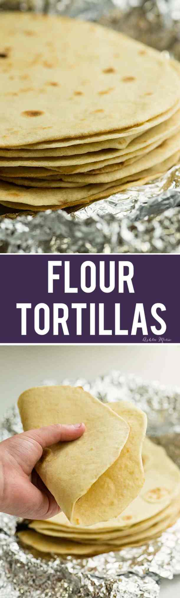 these homemade flour tortillas are easy to make and delicious - video tutorial