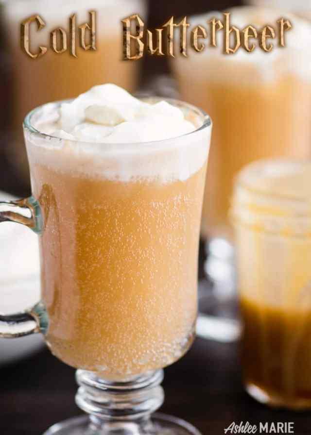 Copycat Homemade Cold Butterbeer recipe - video tutorial - Ashlee