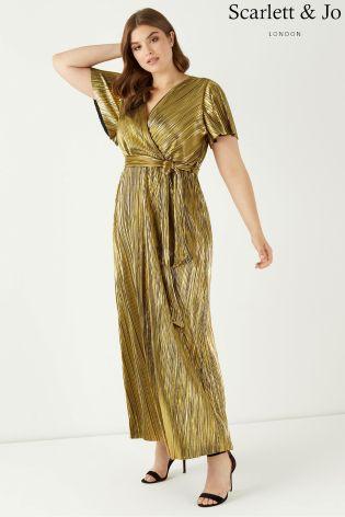 Scarlett and Jo Gold Dress