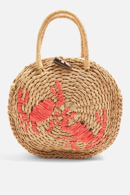 topshop straw bag