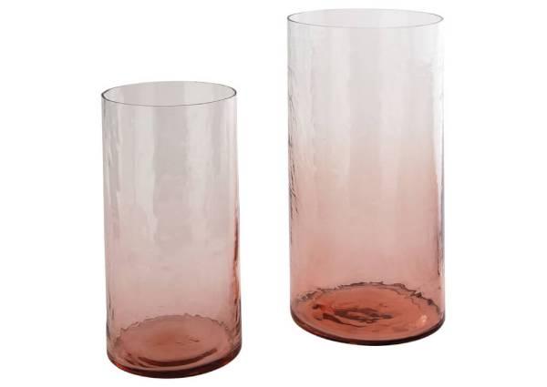ピンクの花瓶セット