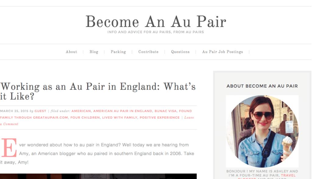 Become an au pair