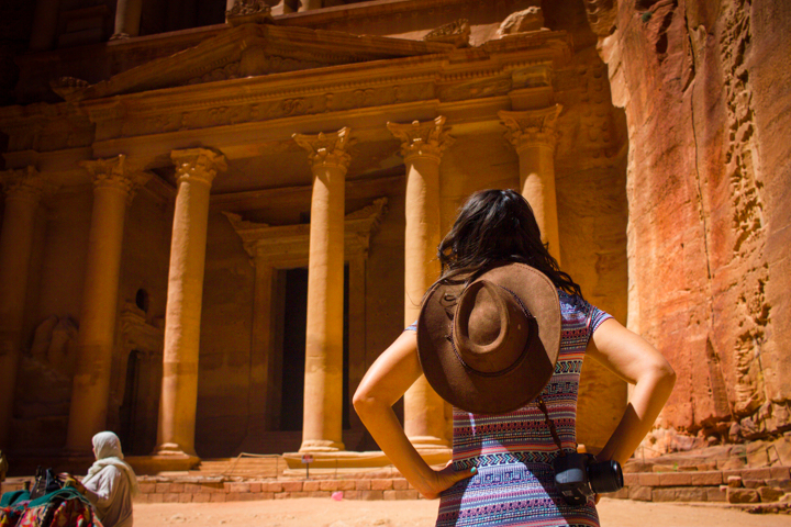 Laying Eyes on the Treasury at Petra, Jordan