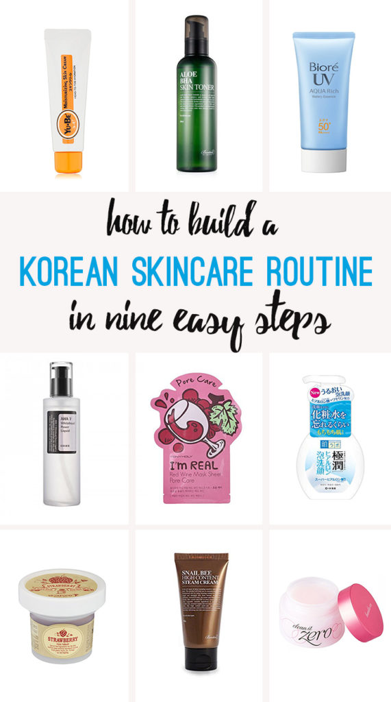 Korean skincare in nine steps