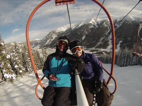 Skiing at Copper Mtn