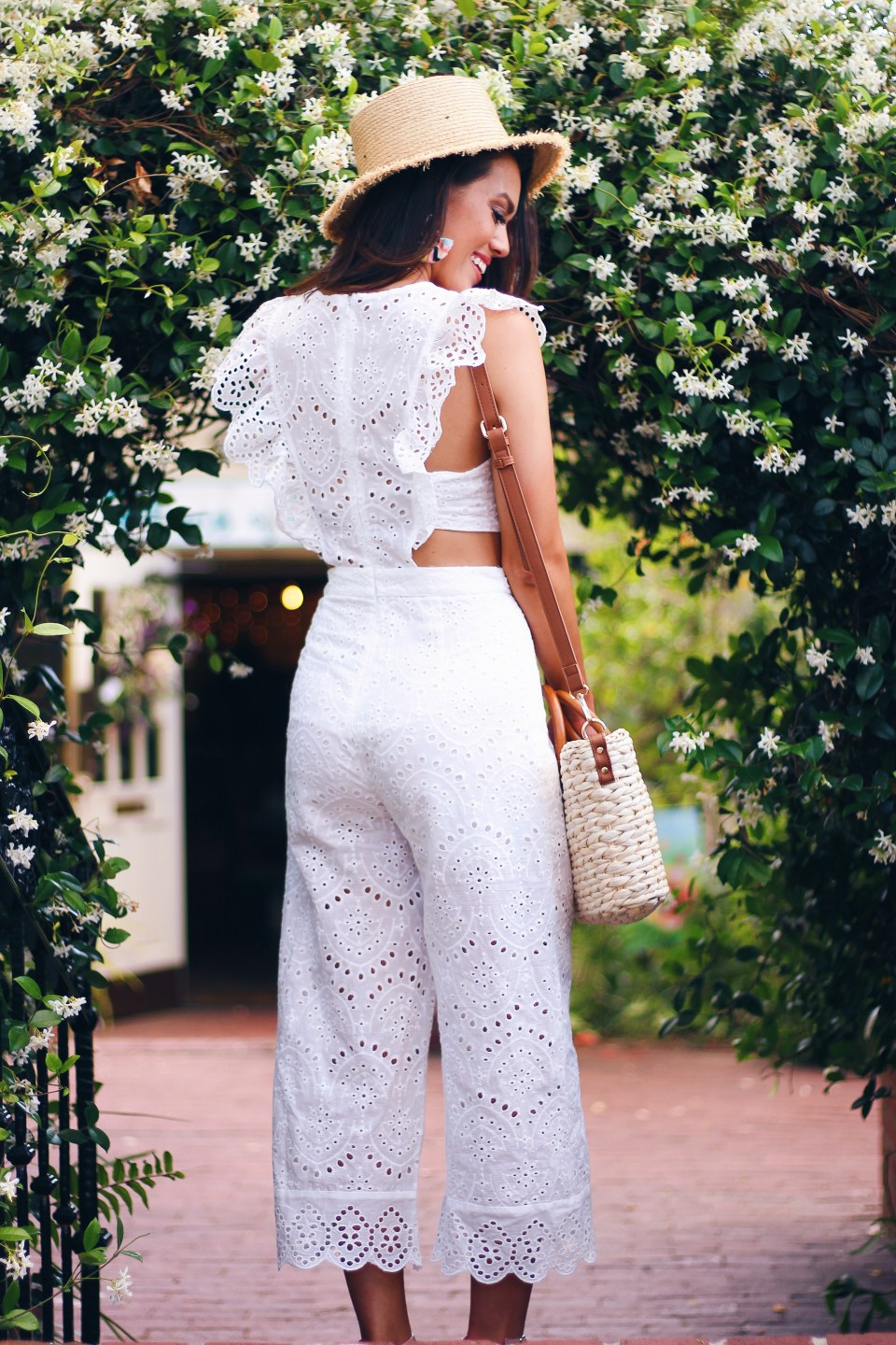f5468e12e62 ... Processed with VSCO with hb1 preset IMG 3960 IMG 3959. Life Is Good  Eyelet Lace Jumpsuit    Colorful Fan Tassel Earrings    Zapara Woven Straw  Handbag ...