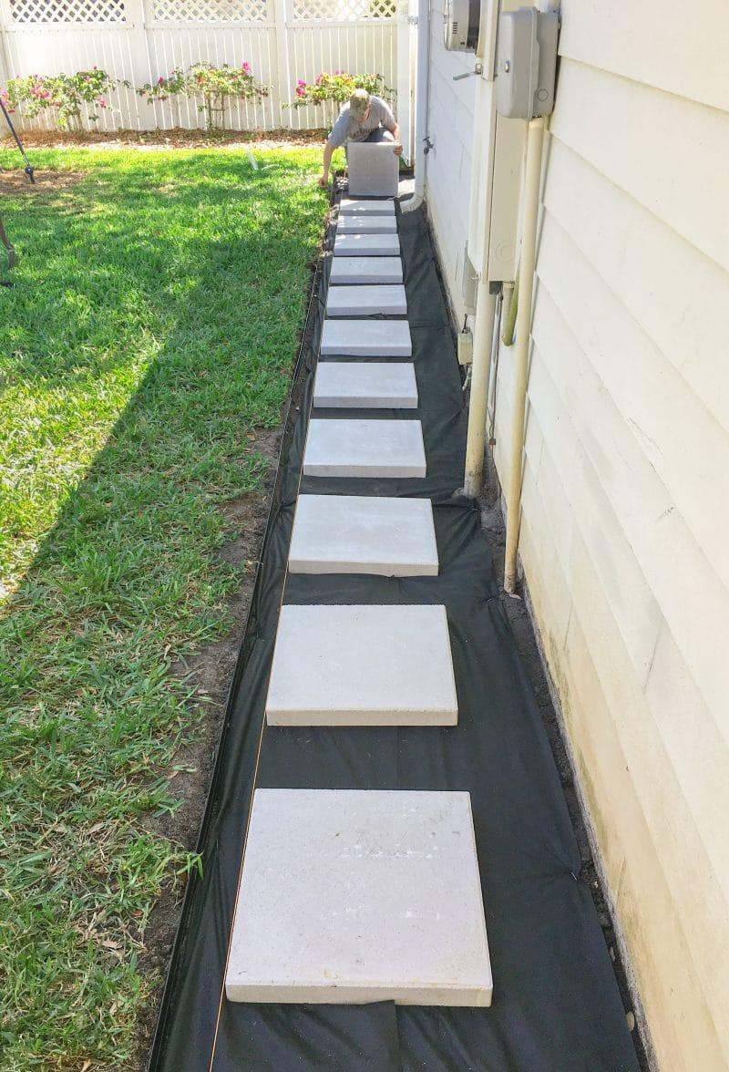 building the paver patio ashley