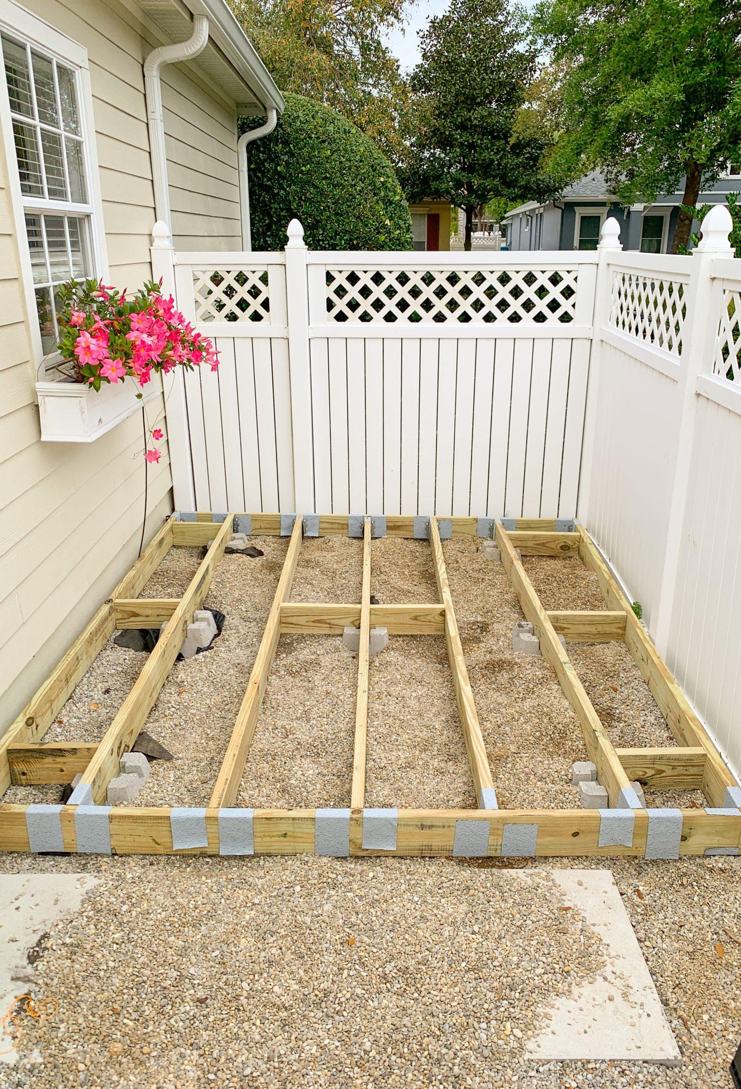 how to build a backyard deck diy