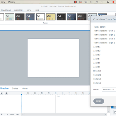 Working with Theme Colours in Articulate Storyline