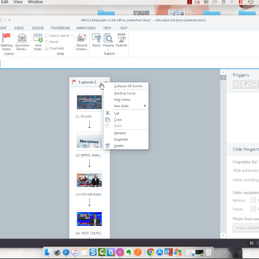 Working in Story View in Articulate Storyline 360