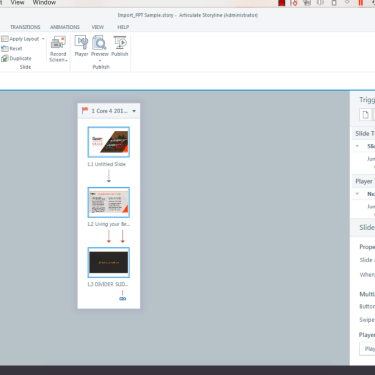 Make Changes to Multiple Slide Properties at Once in Articulate Storyline 360 Story View