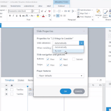 Navigation When Importing from PPT into Articulate Storyline 360