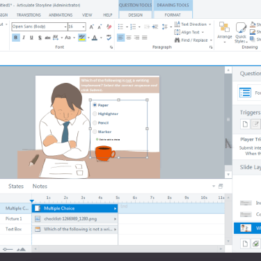 Customize Built-In Multiple Choice Question in Articulate Storyline