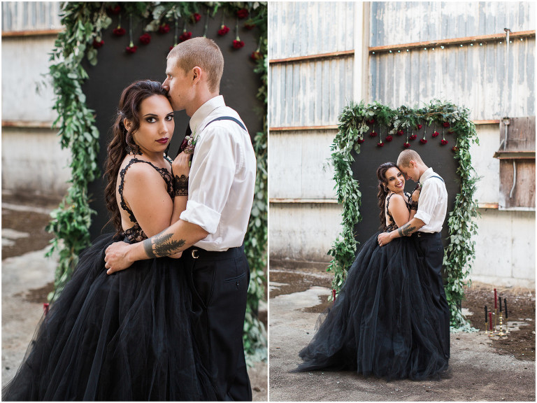 Abandoned Mill Black Lace Styled Wedding: Oregon Wedding