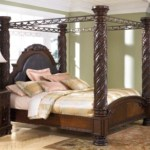 North Shore California King Poster Bed With Canopy Ashley Furniture Homestore