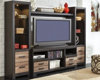large harlinton 4 piece entertainment center rollover