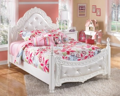 exquisite full poster bed white large
