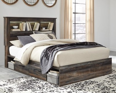 Drystan Queen Bookcase Bed With 4 Storage Drawers Ashley Furniture Homestore