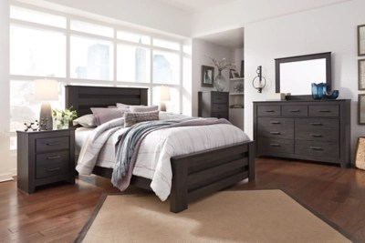 brinxton queen panel bed with dresser