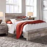 Effie Queen Panel Bed With 2 Storage Drawers Ashley Furniture Homestore