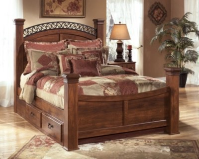 Timberline King Poster Bed With Storage Ashley Furniture