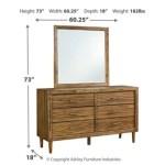 Broshtan Queen Panel Bed With Mirrored Dresser Ashley Furniture Homestore