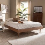Rina Mid Century Queen Wood Bed Frame Ashley Furniture Homestore