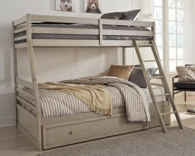 Lettner Twin Over Full Bunk Bed With 1 Large Storage Drawer Ashley Furniture Homestore