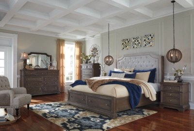 Mikalene Queen Panel Bed With Storage Ashley HomeStore