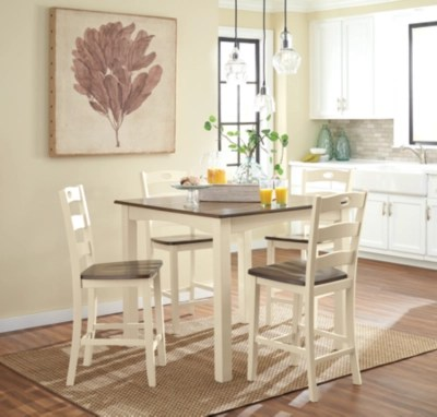 Woodanville Counter Height Dining Room Table And Bar Stools Set Of 5 Ashley Furniture HomeStore