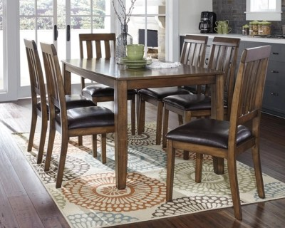 Puluxy Dining Room Table And Chairs Set Of 7 Ashley Furniture Homestore