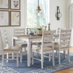 Skempton Dining Table And Chairs Set Of 7 Ashley Furniture Homestore