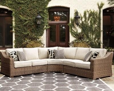 beachcroft outdoor curved corner chair