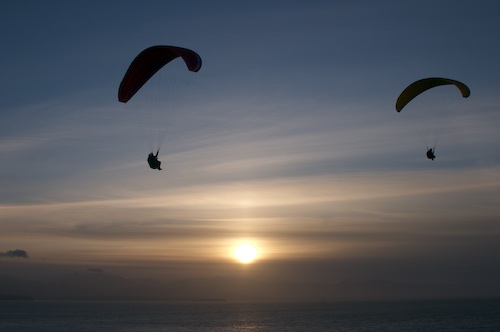 Sunset soaring at The Fort.