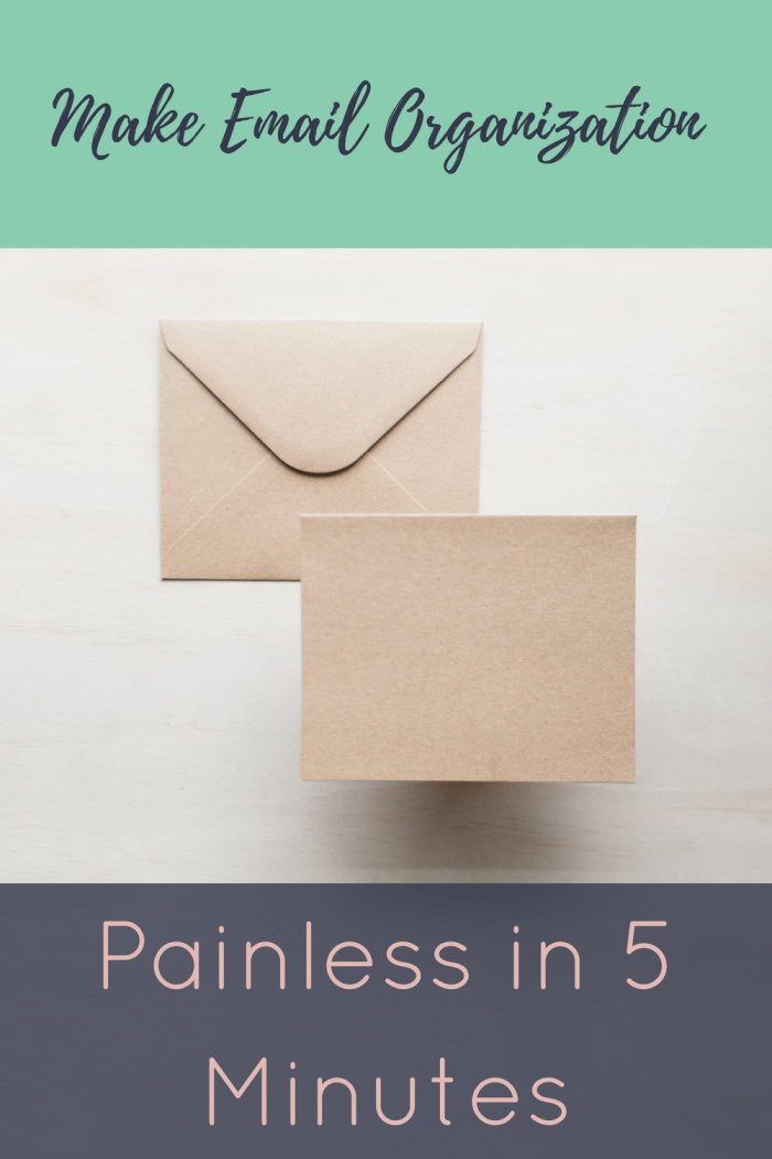 Make Email Organization Painless in 5 Minutes