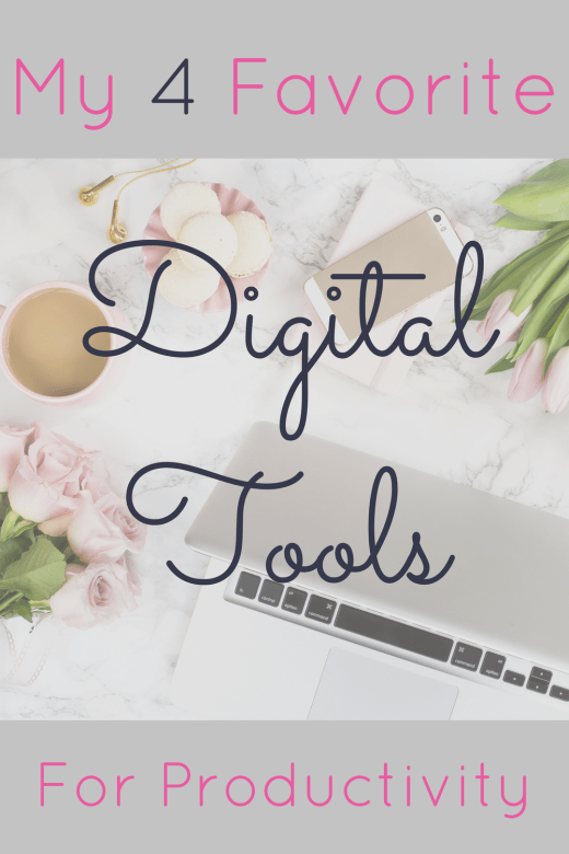 My 4 Favorite Digital Tools for Productivity