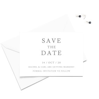 Minimalist Save the Date