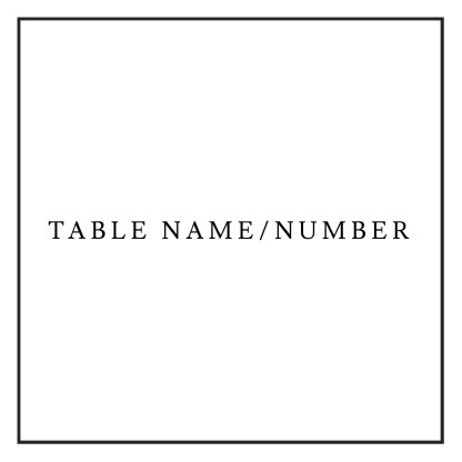 Table name / number
