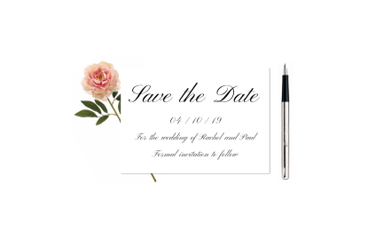 Traditional Script Save the Date