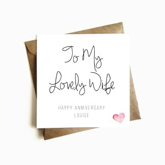 Personalised Anniversary Card - Wife