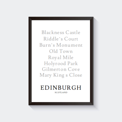 Cities & Places Print