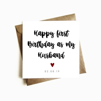 Happy First Birthday as my Husband Card