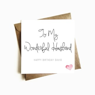 Husband Birthday Card Personalised