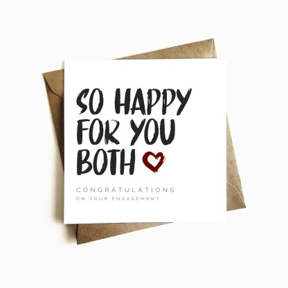 'So Happy For You Both' Engagement Card